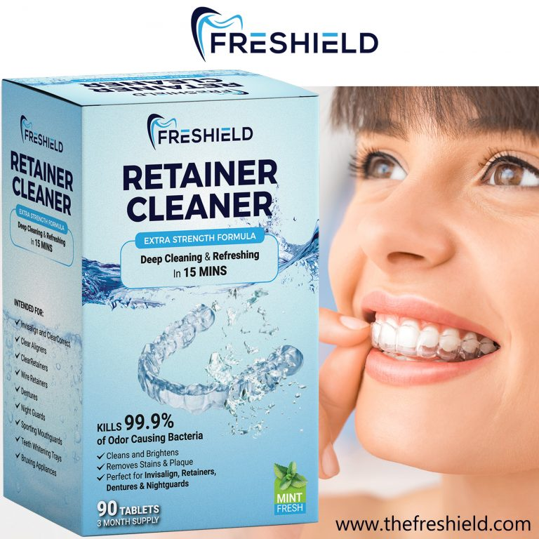 FRESHIELD Retainer Invisalign & Denture Cleaning Tablets ...